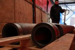 Погрузка цилиндров 125 мм