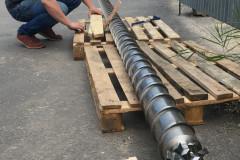 Подготовка к отгрузке шнека 130 мм для ПП/ПС